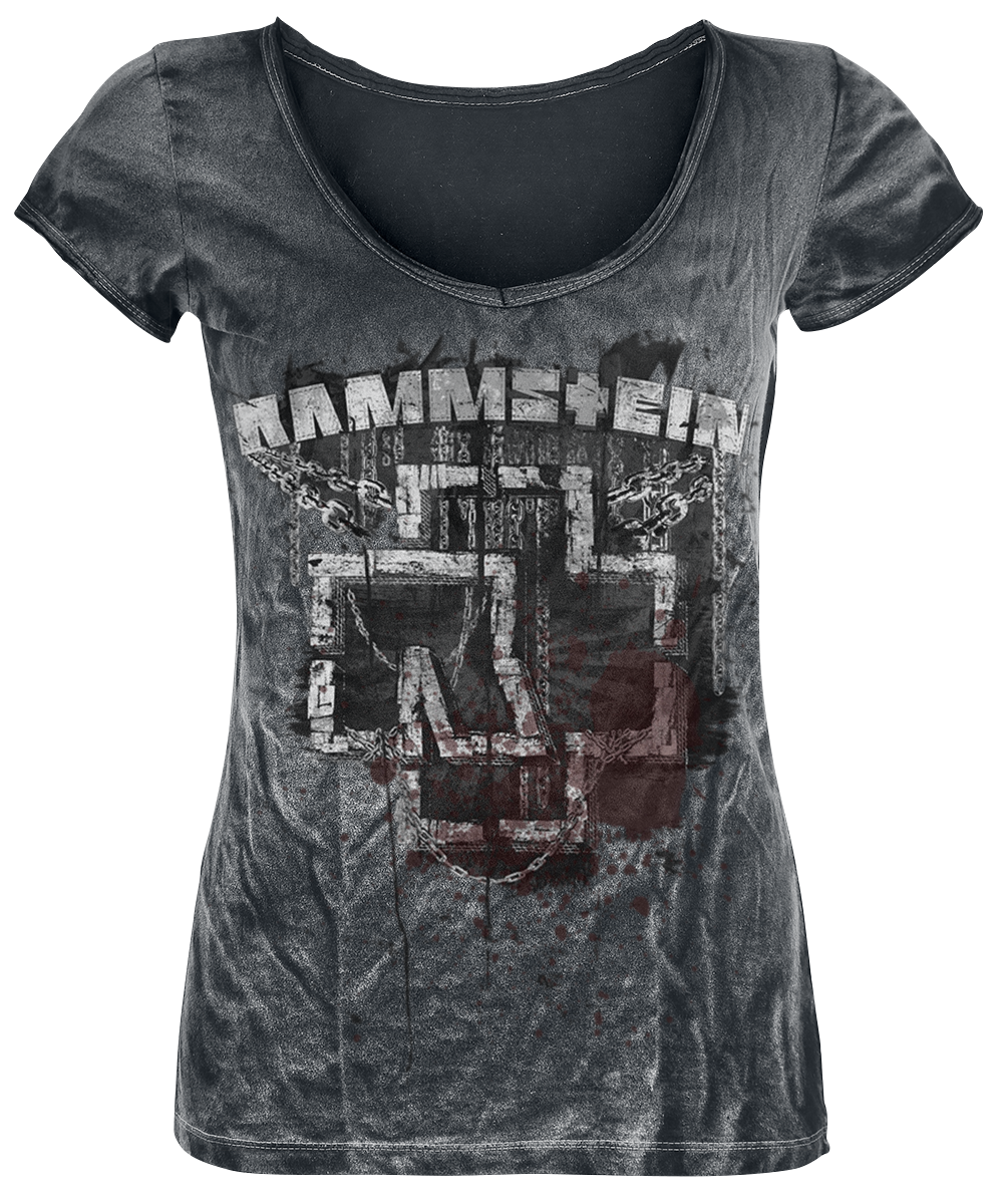 Rammstein - In Ketten - Girls shirt - dark grey image