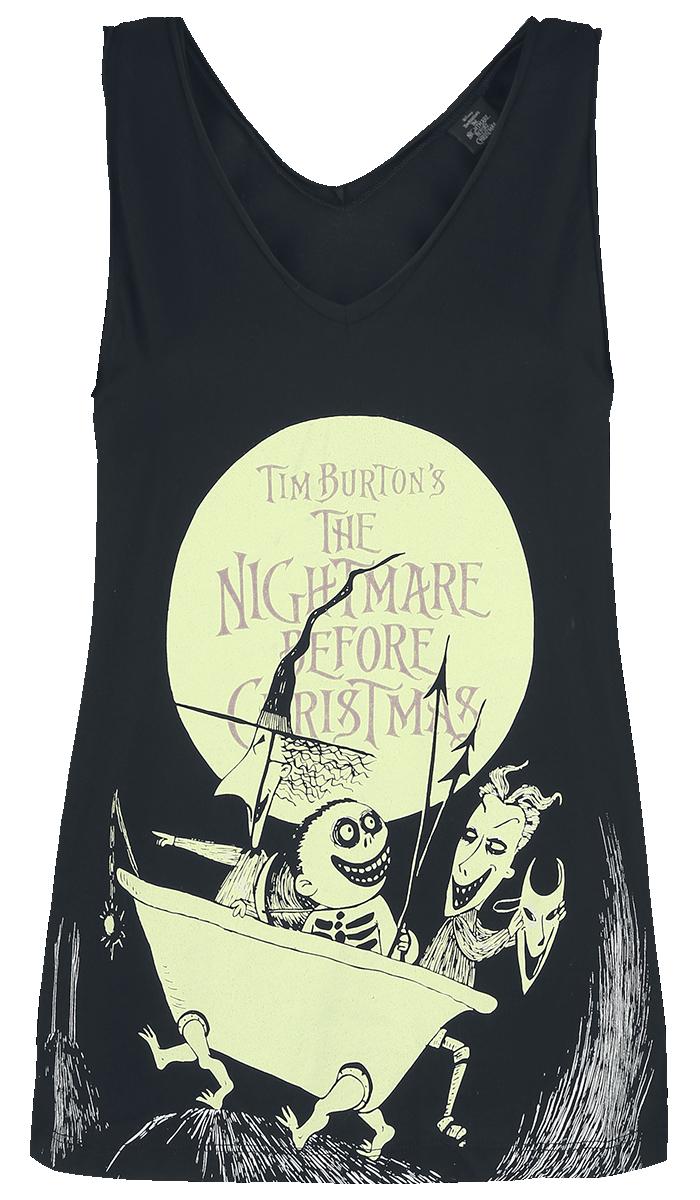 The Nightmare Before Christmas - Villains - Glow In The Dark - Girls Top - black image