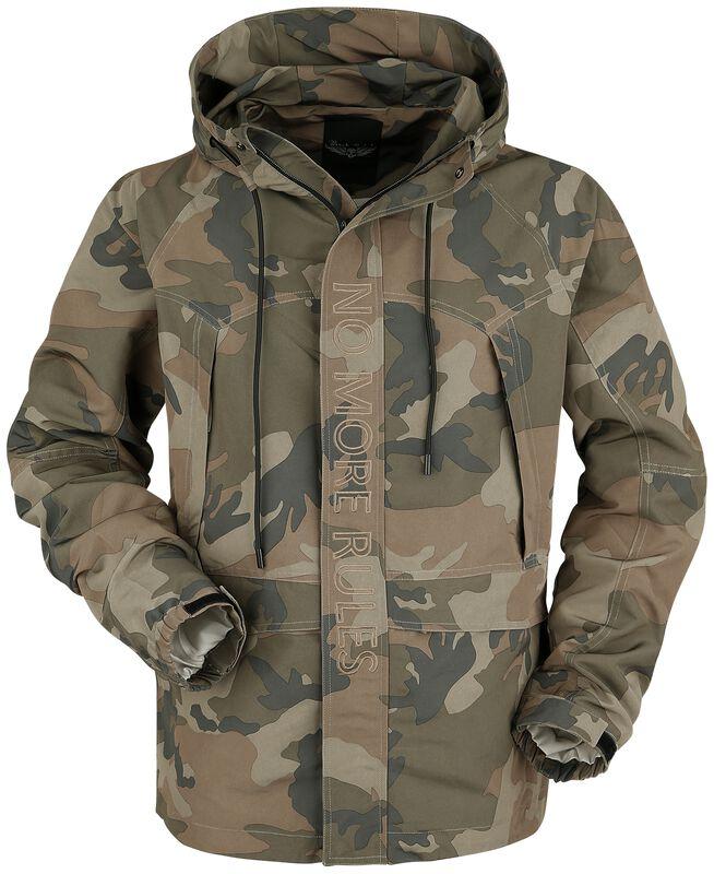 Camouflage Jacke mit Stickerei