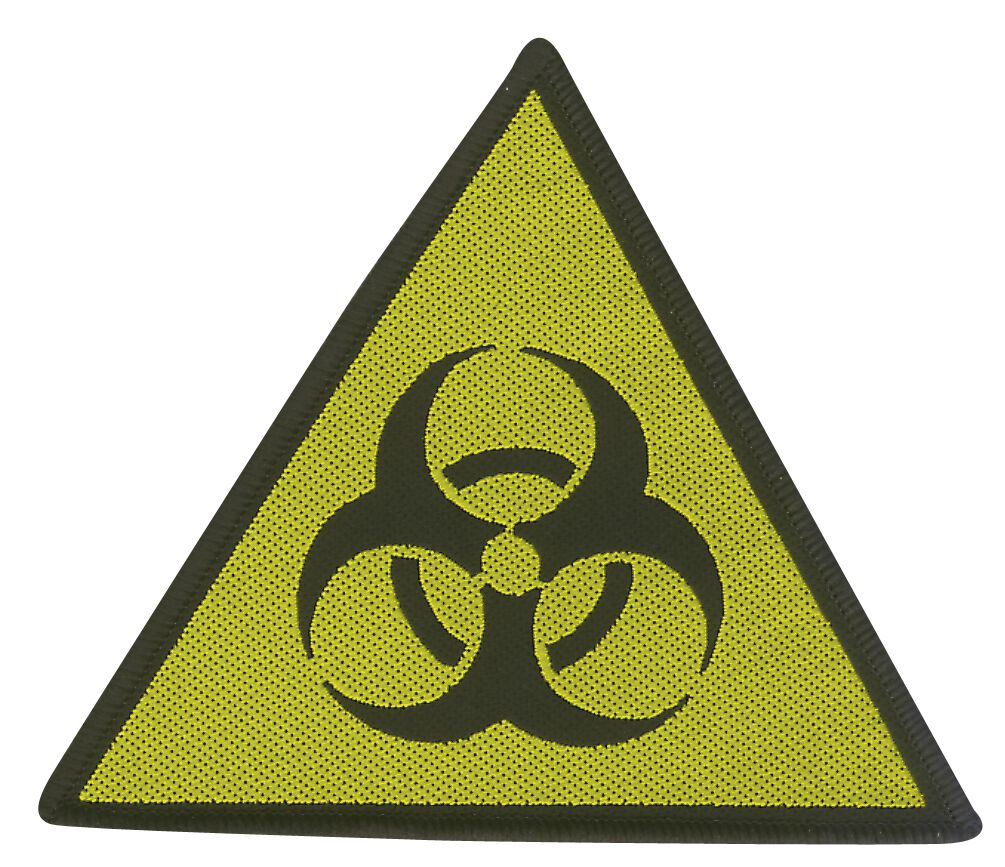 Biohazard  Danger  Patch  schwarz/gelb