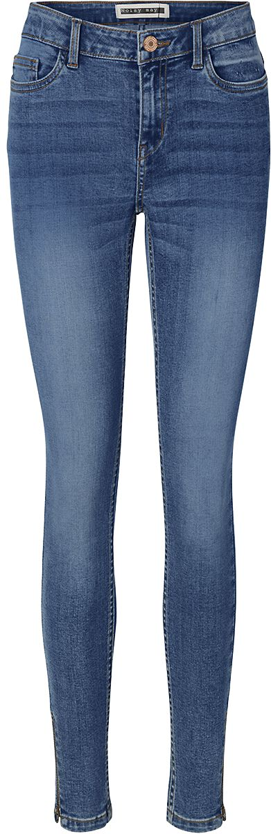 Image of Noisy May Callie HW Skinny Jeans Jeans donna blu scuro
