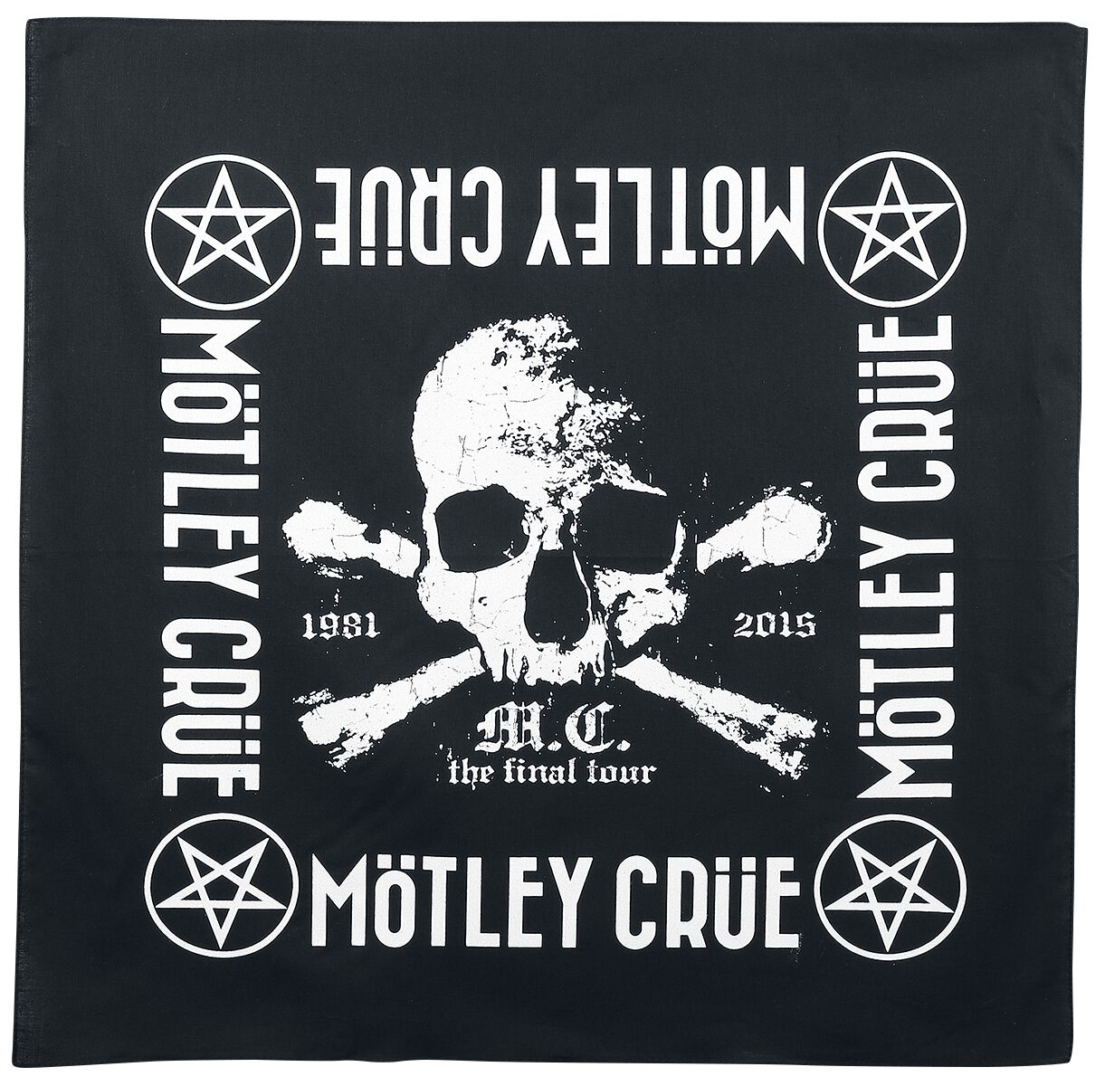 Image of Mötley Crüe The Final Tour - Bandana Bandana multicolor
