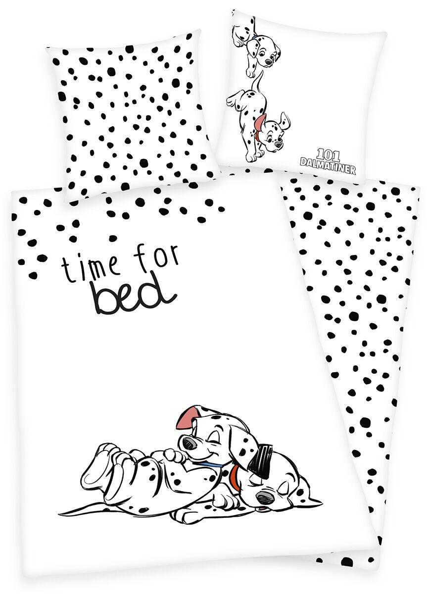 Image of 101 Dalmatiner Time For Bed Bettwäsche weiß/schwarz