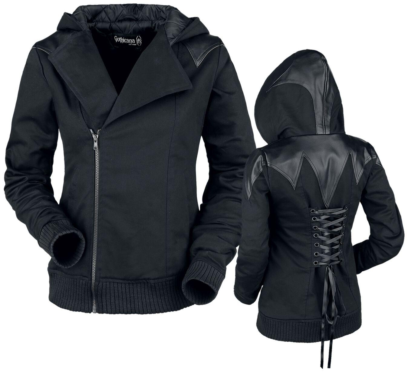 Jacken für Frauen - Gothicana by EMP Vaya Übergangsjacke schwarz  - Onlineshop EMP