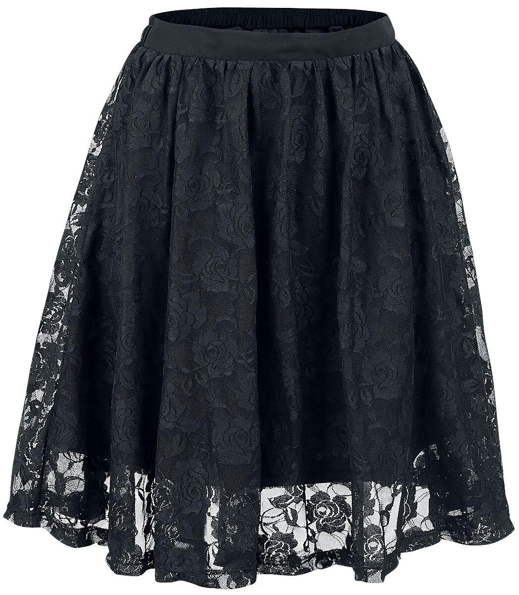 Forplay - Lace Covered Skirt - Kurzer Rock - schwarz - EMP Exklusiv!