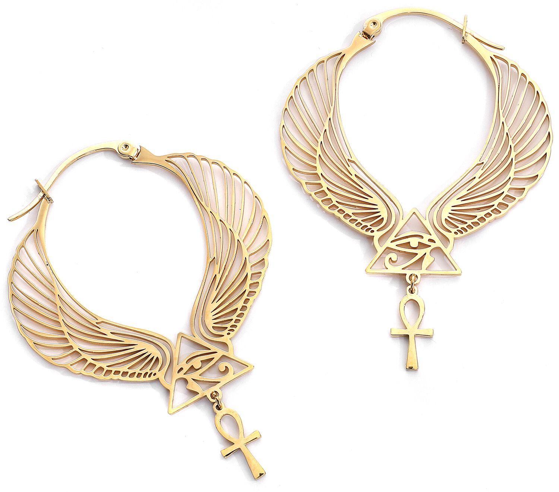Ohrringe - Wildcat Cleopatra Hoops Ohrring goldfarben  - Onlineshop EMP
