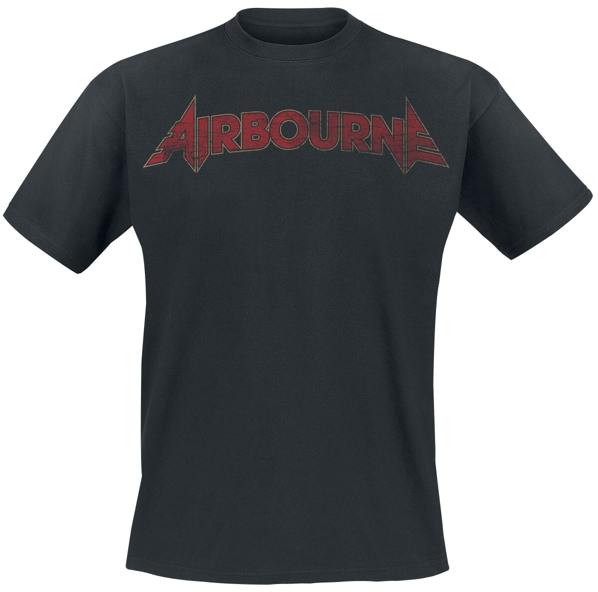 Image of Airbourne Cracked Logo T-Shirt schwarz
