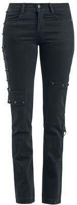 Lange Hose mit Reißverschluss-Applikationen