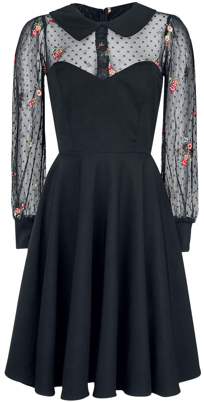 Kleider - Belsira Lacedress Mittellanges Kleid schwarz  - Onlineshop EMP