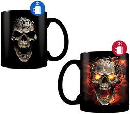 Skull Blast -Tasse mit Thermoeffekt