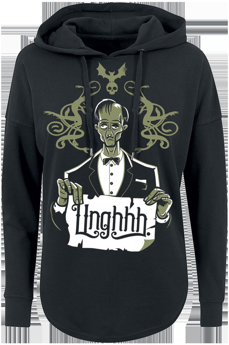 The Addams Family - Unghhh - Girls hooded sweatshirt - black image
