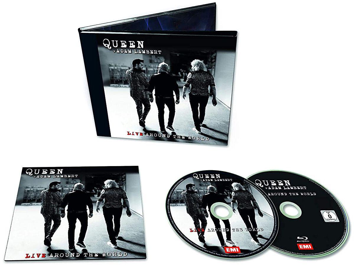 Image of Queen + Adam Lambert - Live around the world CD & Blu-ray Standard