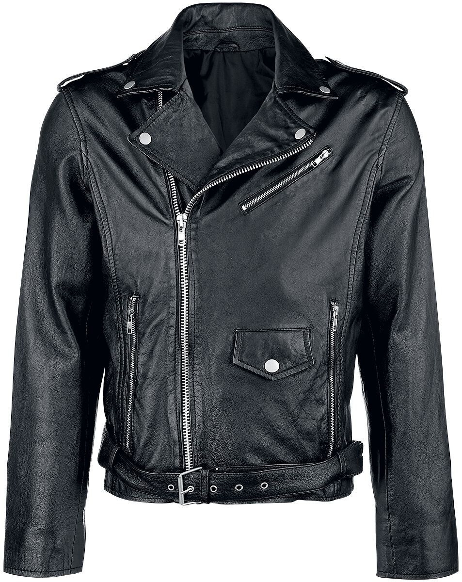 Classic Style Lederjacke Lederjacke schwarz Marlon Brando