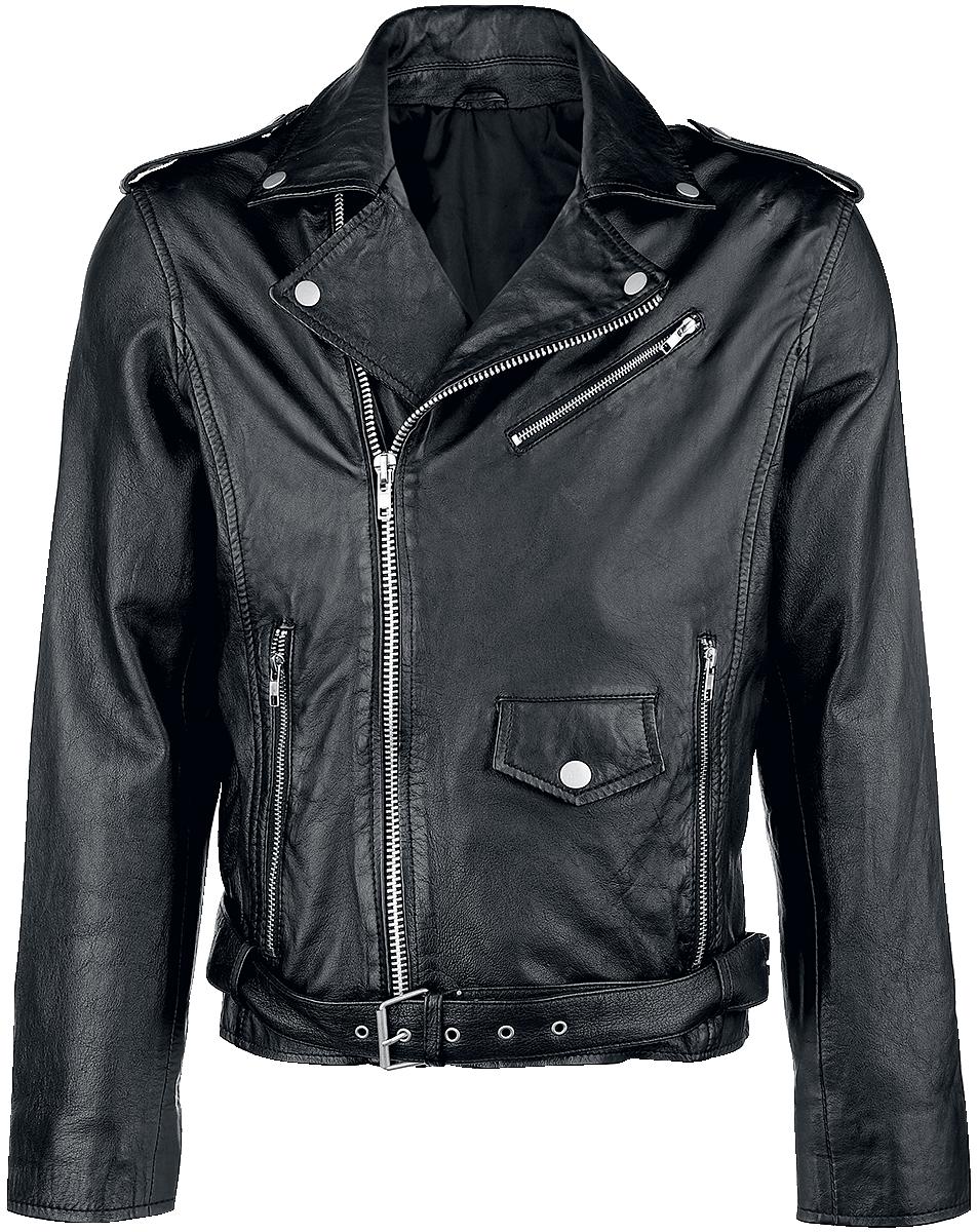 Classic Style - Leather Jacket - Leather jacket - black