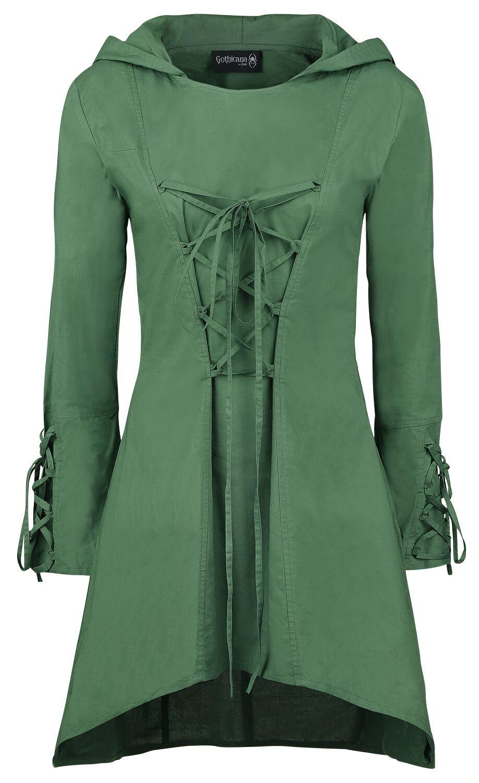 Kleider - Gothicana by EMP Apollonia Mittellanges Kleid grün  - Onlineshop EMP