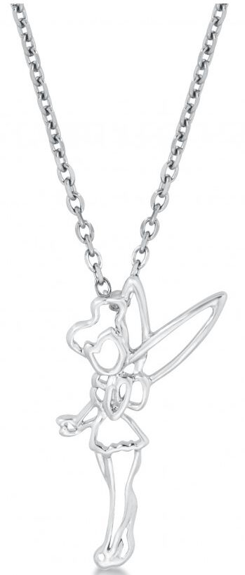 Peter Pan Disney by Couture Kingdom - Tinkerbell Outline Halskette silberfarben DSC018