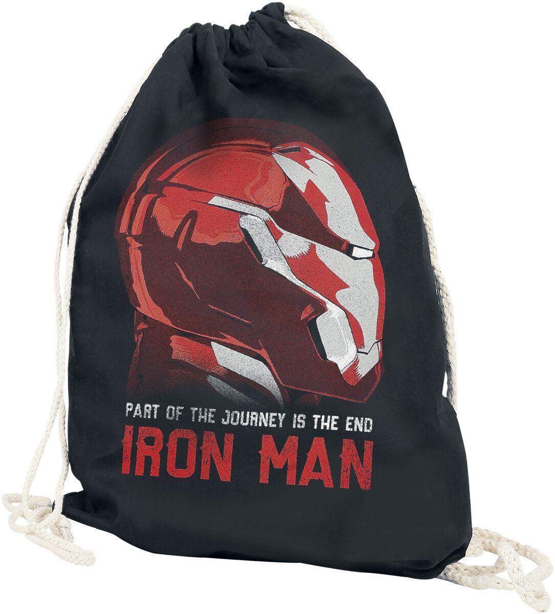 Sporttaschen - Iron Man Part Of The Journey Is The End Turnbeutel schwarz  - Onlineshop EMP