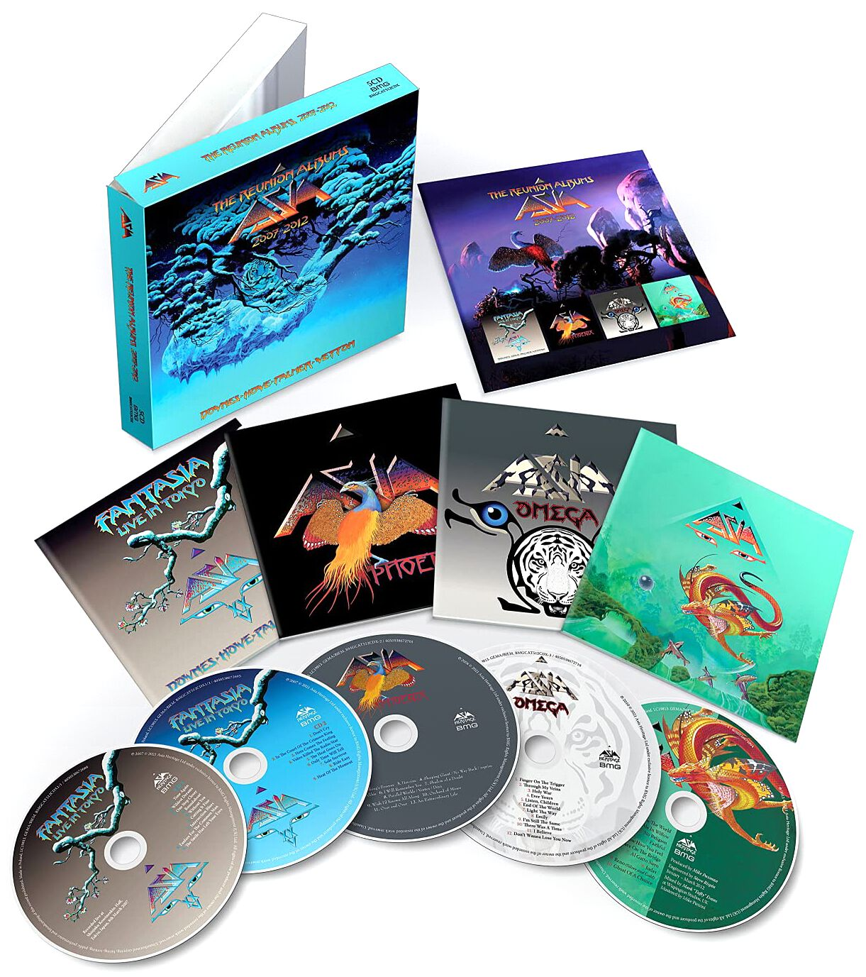 Image of Asia The Reunion Albums 2007 -2012 5-CD Standard