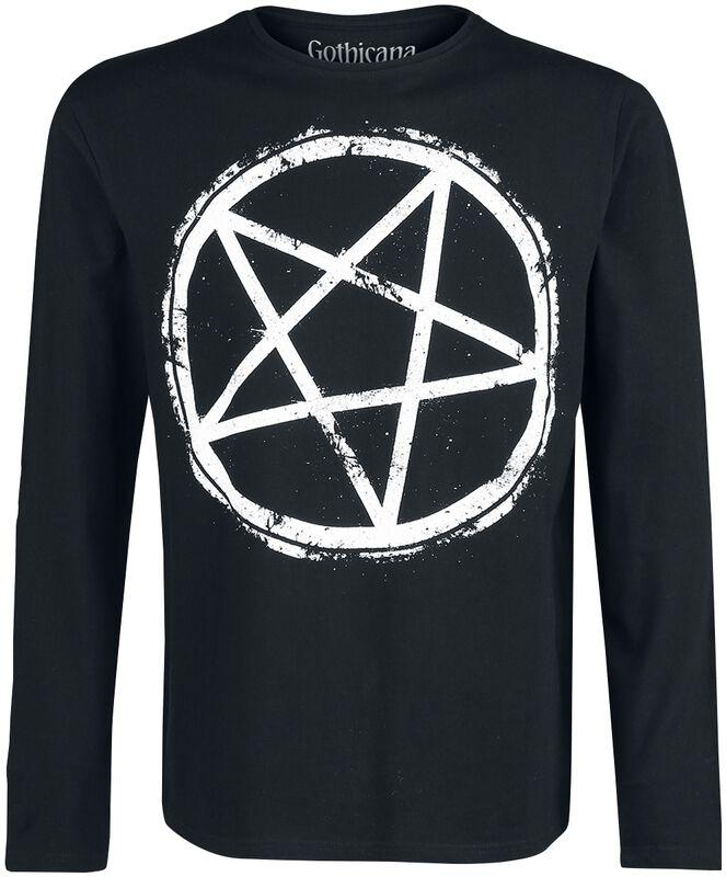 Langarmshirt mit Pentagrammprint