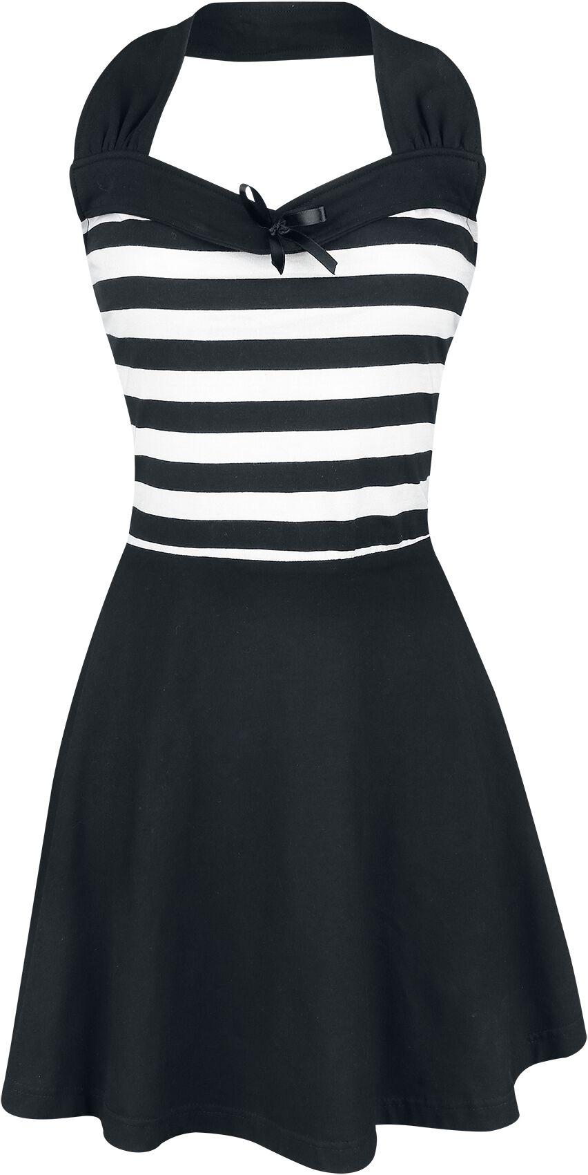 Rockabella South Dress Kurzes Kleid schwarz weiß