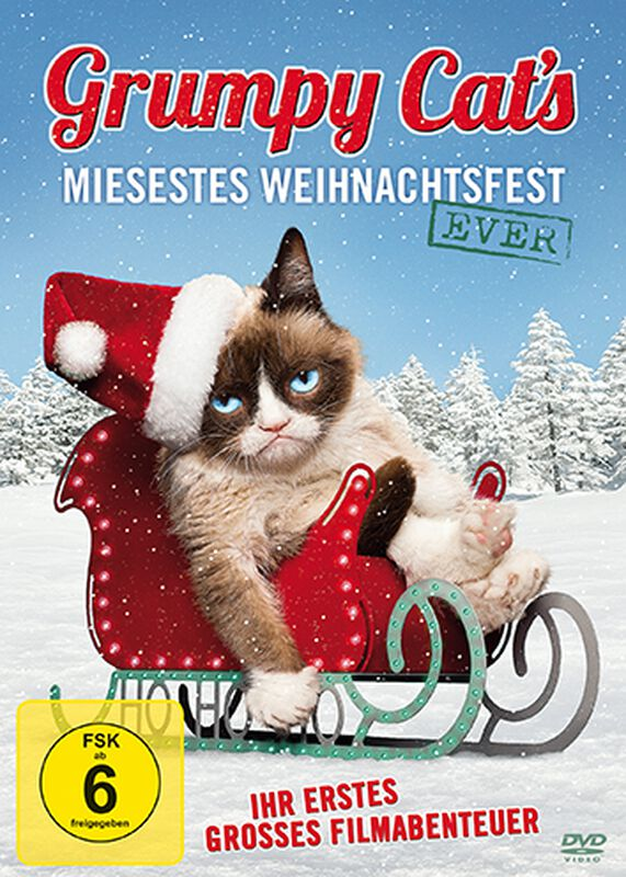 Grumpy Cat's miesestes Weihnachtsfest ever