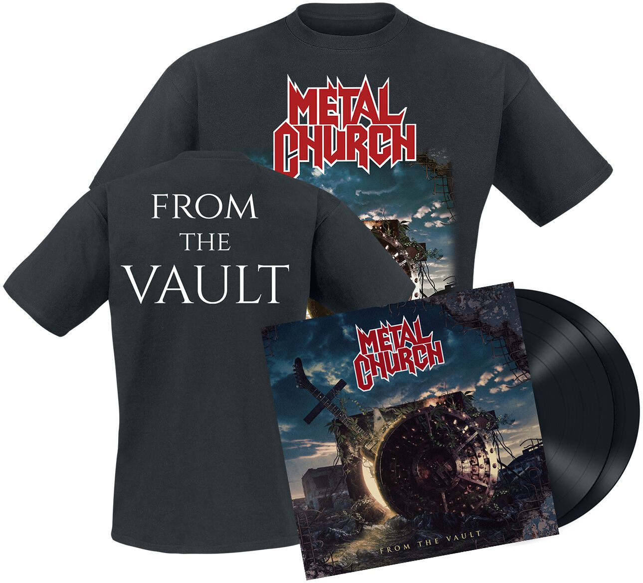 Image of Metal Church From the vault 2-LP & T-Shirt Standard