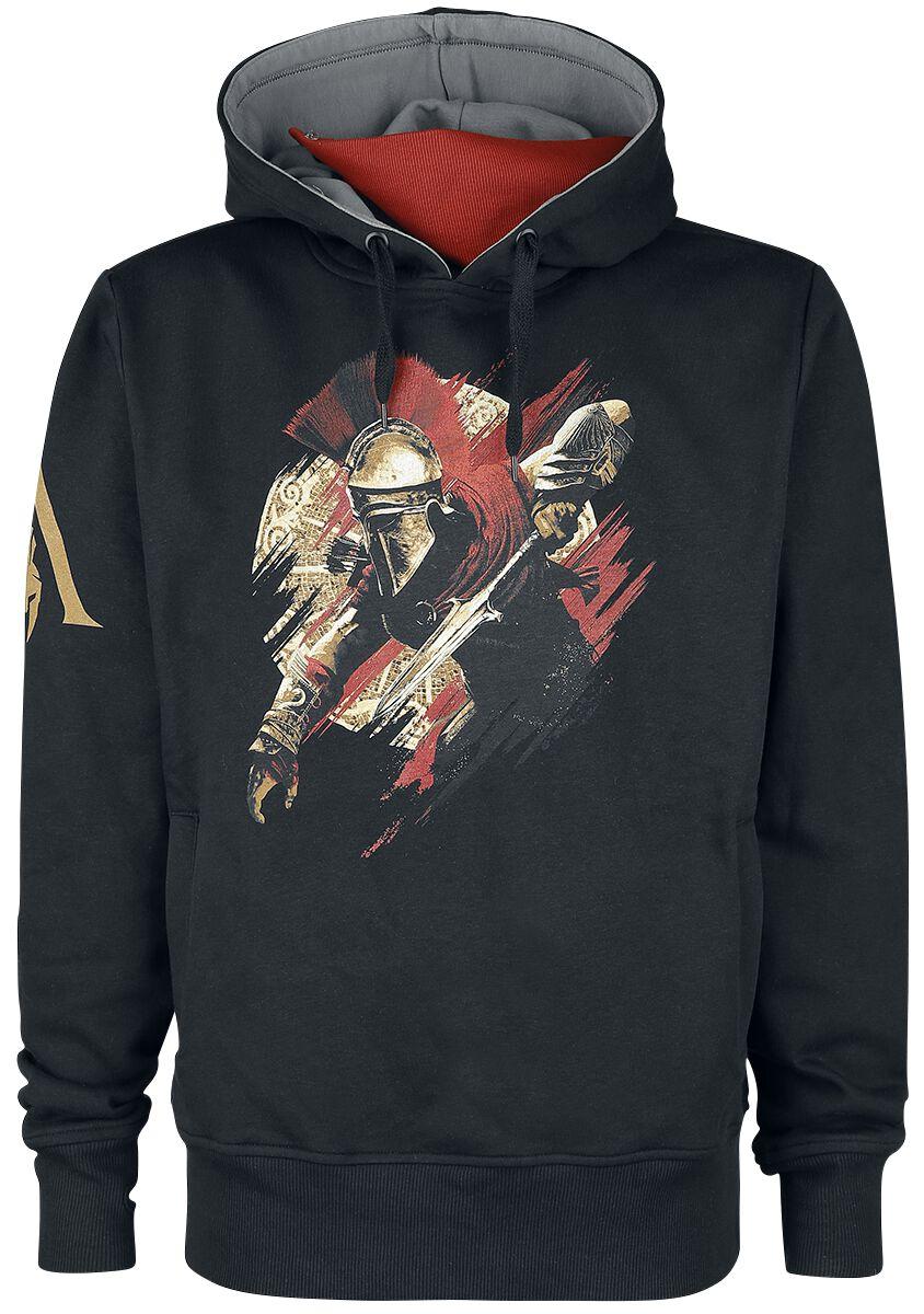 Image of Assassin's Creed Alexios Kapuzenpulli schwarz/grau/rot
