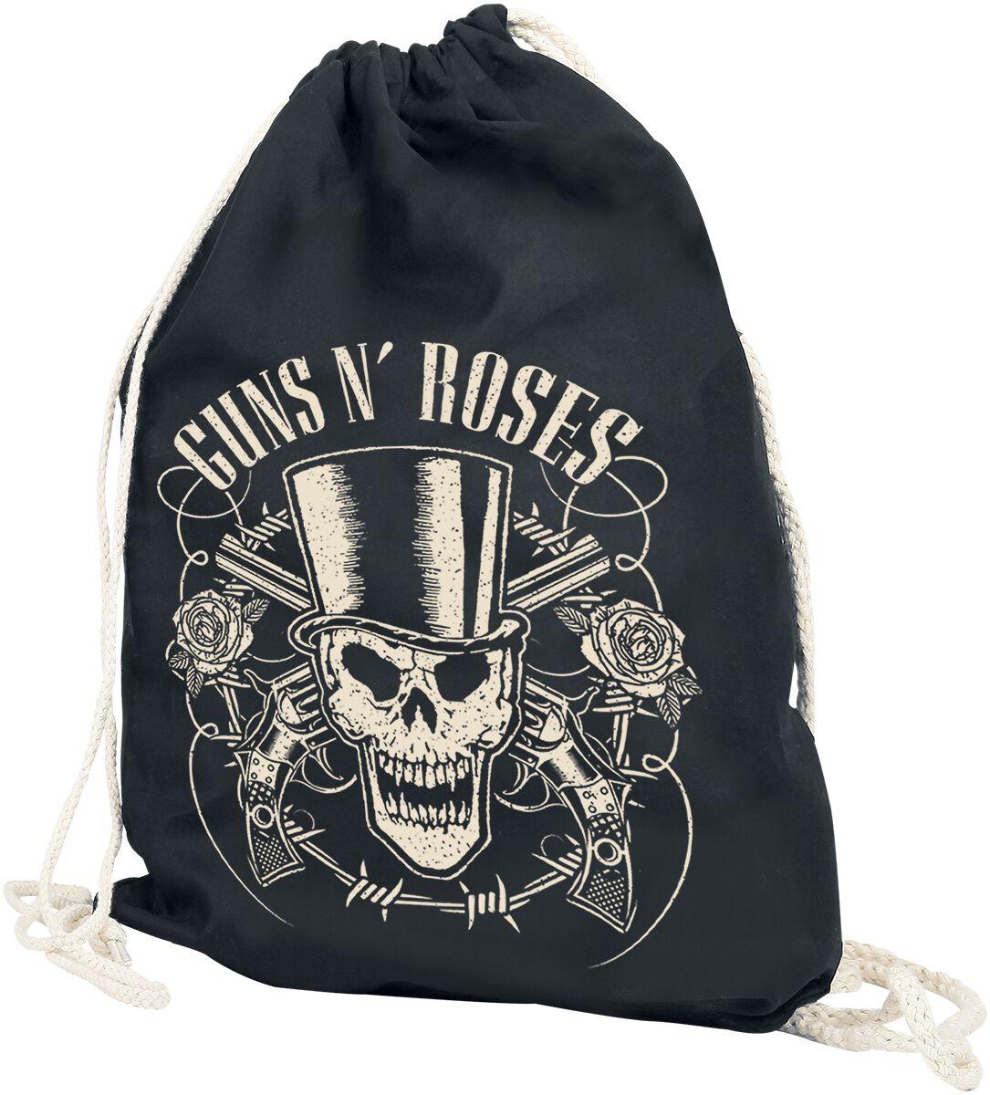 Sporttaschen - Guns N' Roses Skull And Pistols Turnbeutel schwarz  - Onlineshop EMP