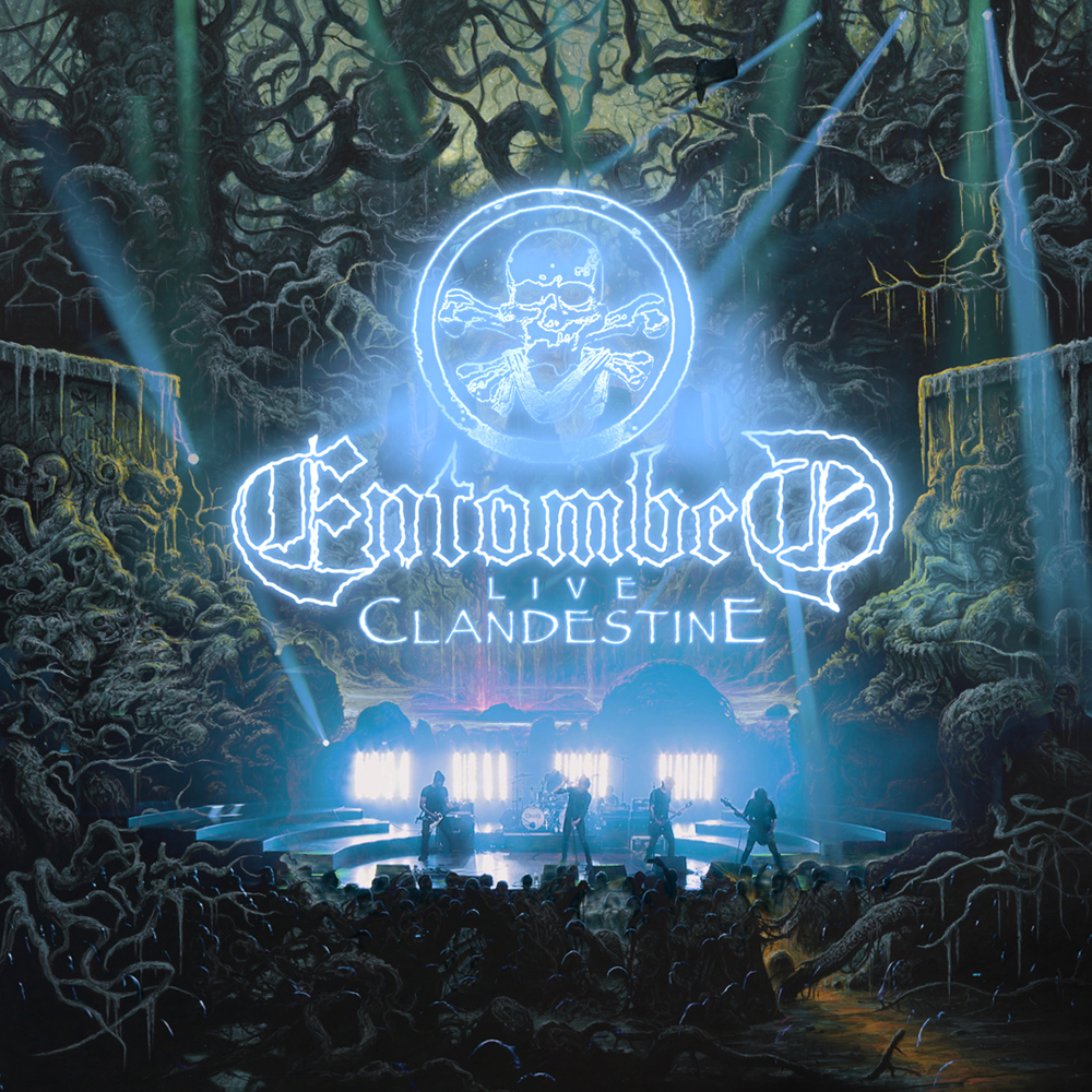 Image of Entombed Clandestine - Live 2-LP & Poster rot