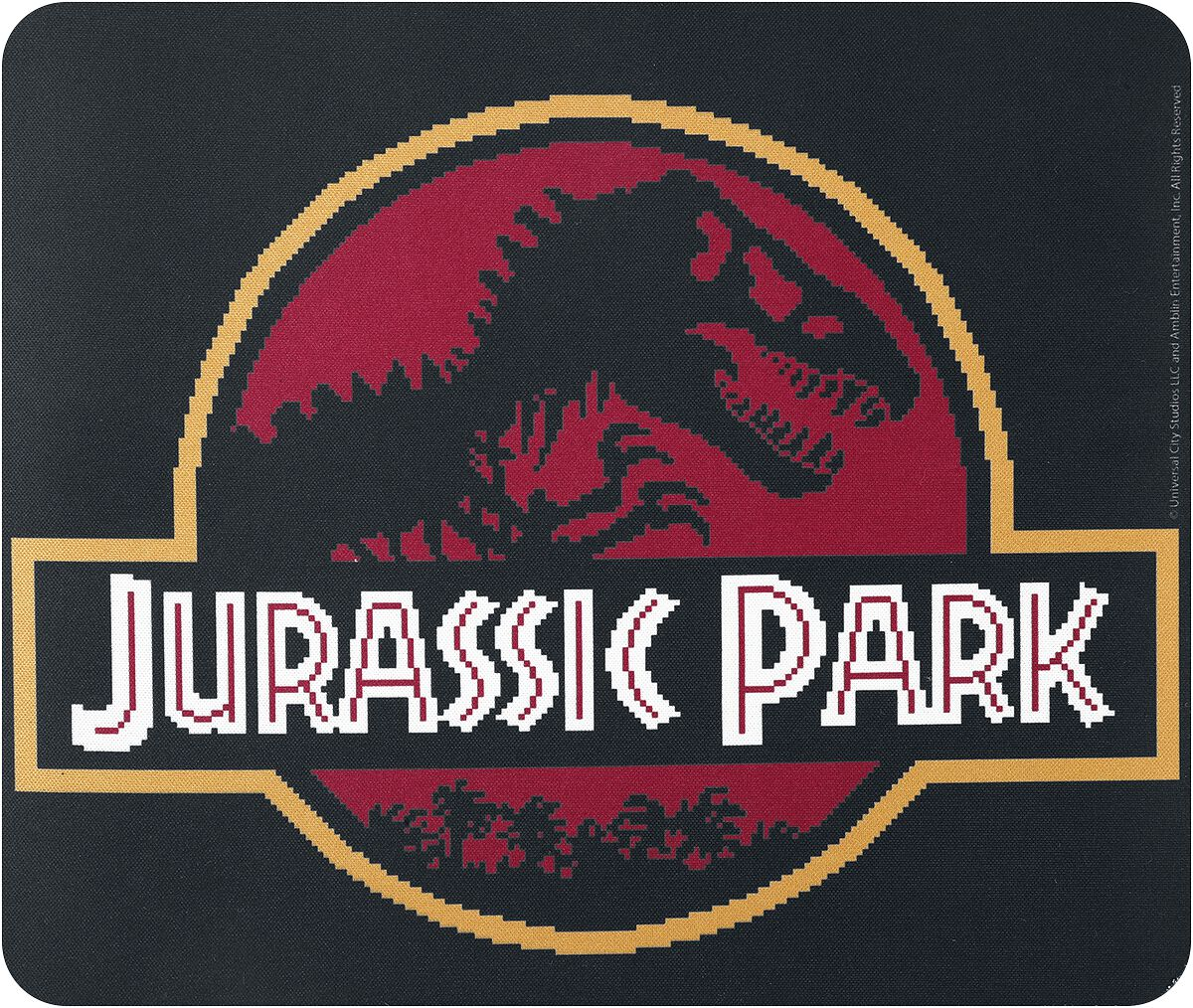 Jurassic Park Pixel Logo  Mouse-Pad  multicolor
