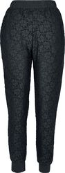 Ladies Lace Jersey Jog Pants