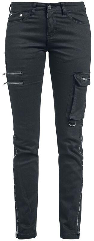 Skarlett - Schwarze Jeans mit zwei Saumvarianten