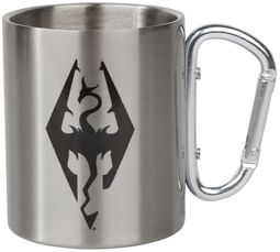 V - Skyrim - Dragon Symbol - Tasse mit Karabinerhaken