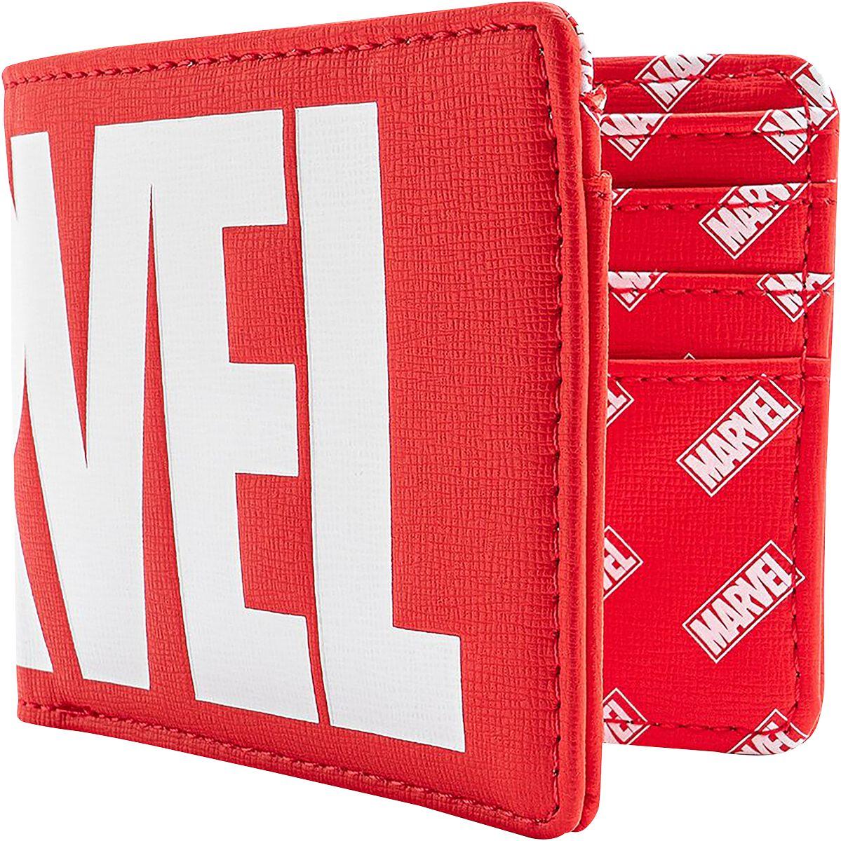 Geldboersen - Marvel Loungefly Marvel Logo Geldbörse rot weiß  - Onlineshop EMP