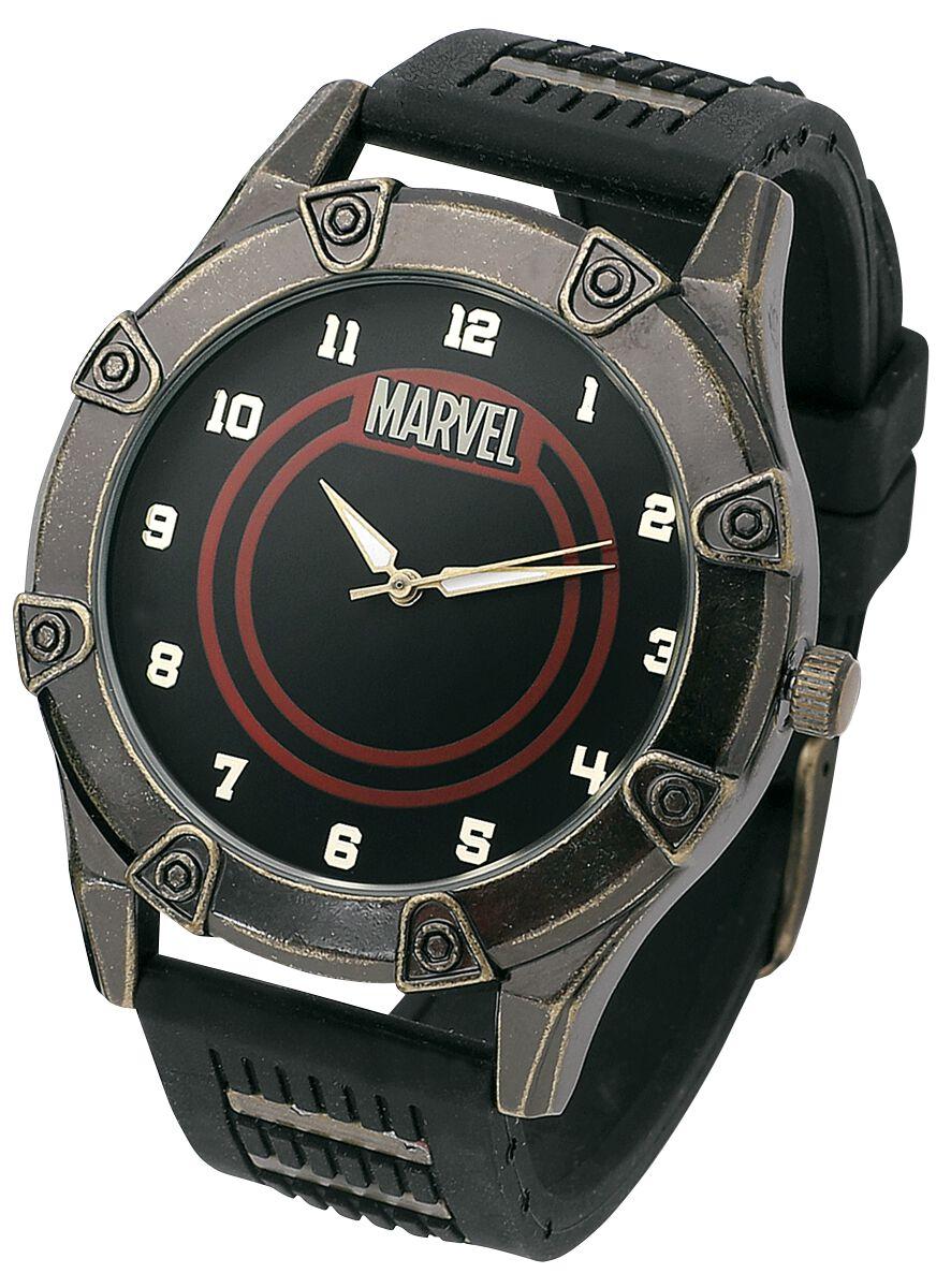 Marvel Marvel Logo Armbanduhren schwarz CLM8004