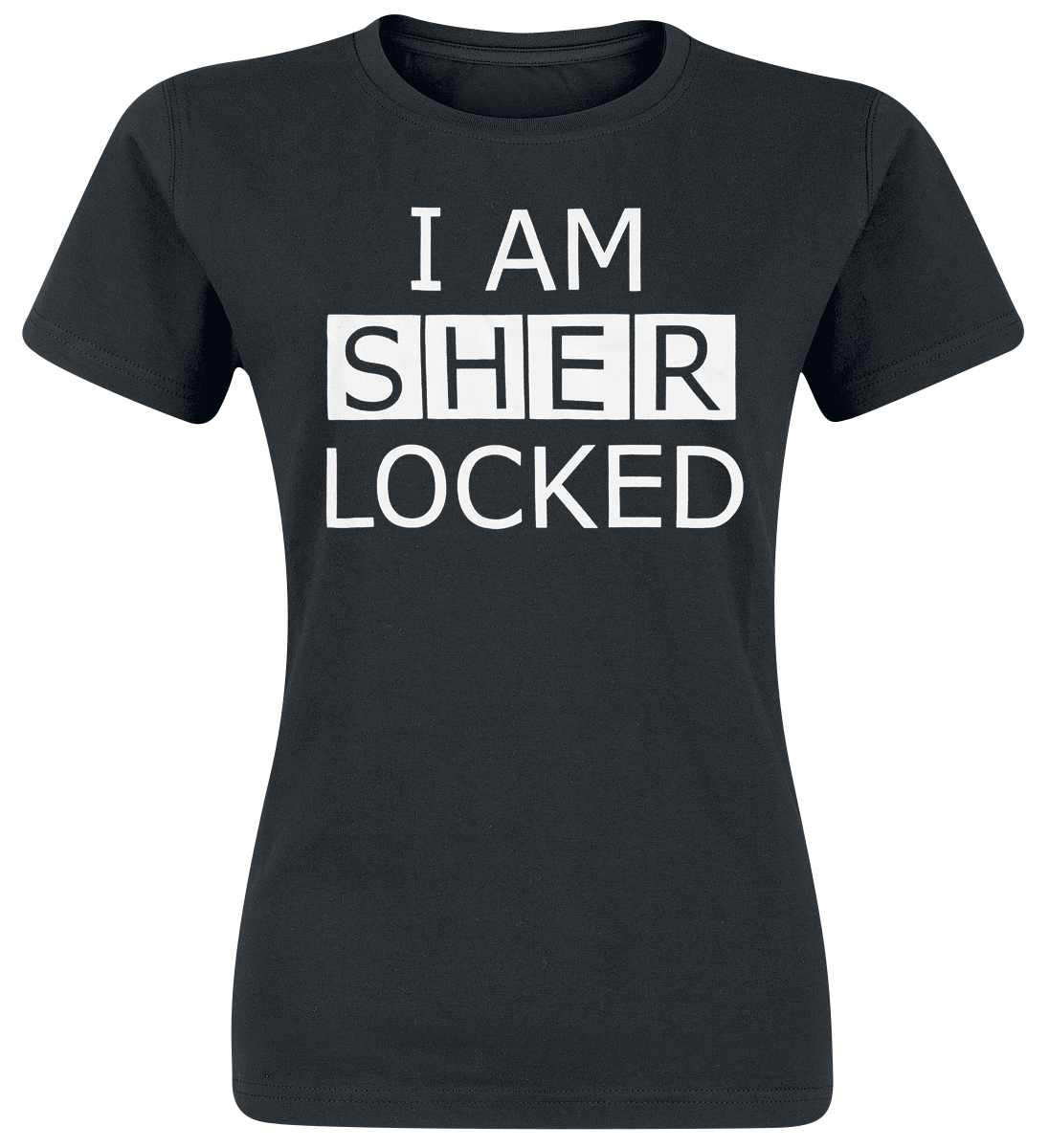 Sherlock - I Am Sherlocked - Girls shirt - black image