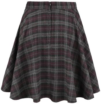 Rock Check Flared Skirt