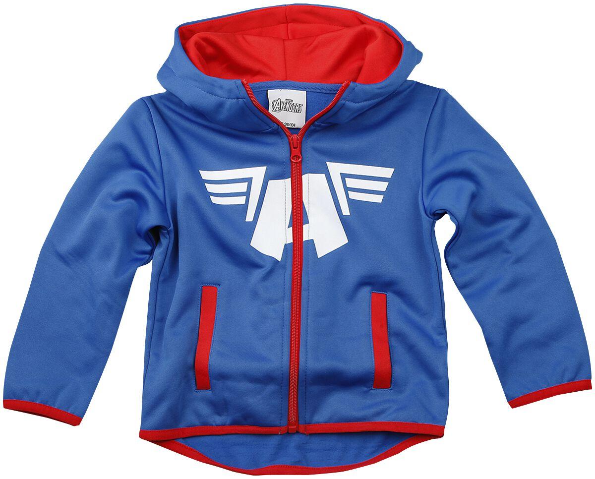 Image of Captain America Shield and Wings Giacca con cappuccio - bimbo blu