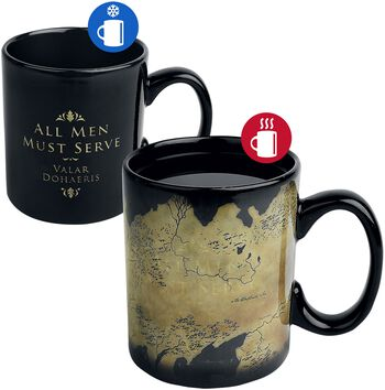 Westeros Map - Tasse mit Thermoeffekt