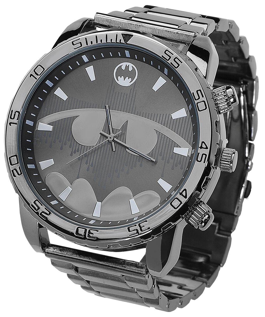 Image of Batman Batman Logo Armbanduhr silberfarben