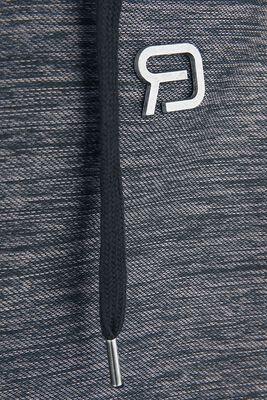 Grau/schwarze Kapuzenjacke