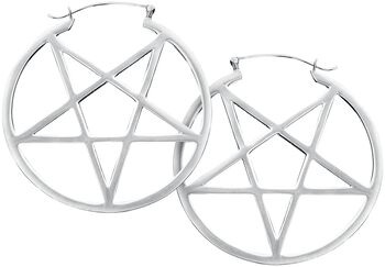 Small Pentagram Hoops