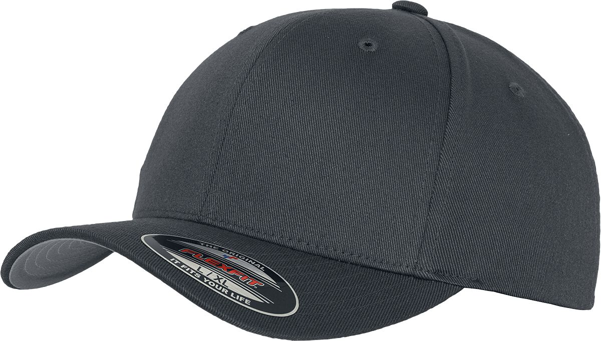 Image of Flexfit Wooly Combed Flexcap dunkelgrau