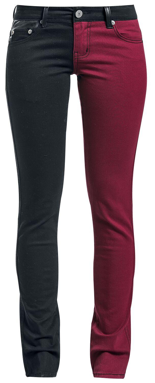 Black Premium by EMP Skarlett Cloth Trousers black red