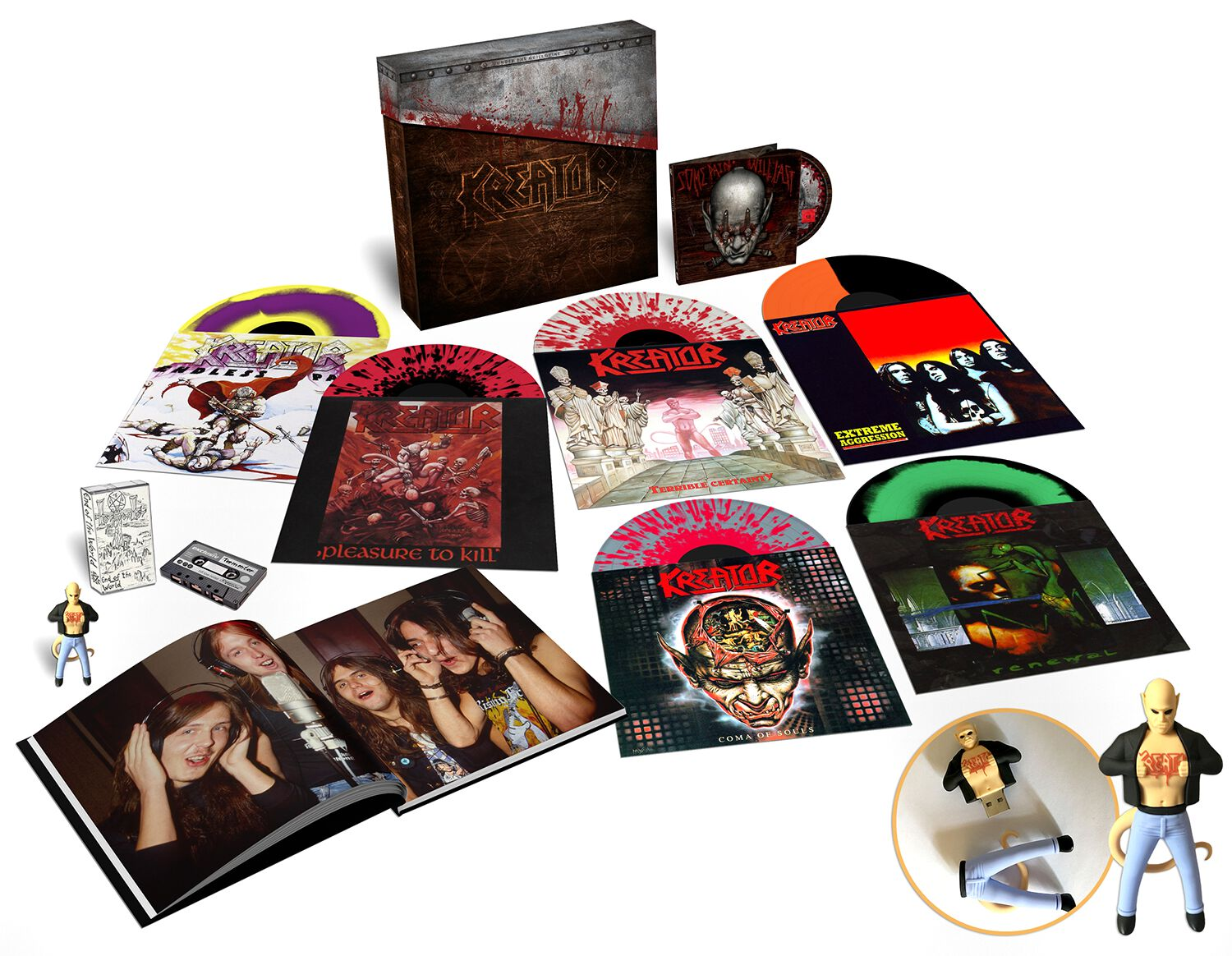 Image of Kreator Under the guillotine 6-LP & DVD & MC farbig