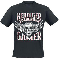 Nerdiger Zockender Gamer
