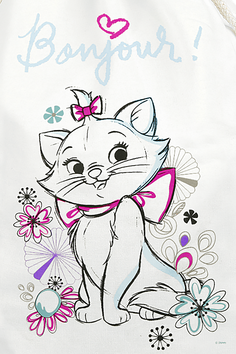Image of Aristocats Marie - Bonjour Turnbeutel weiß