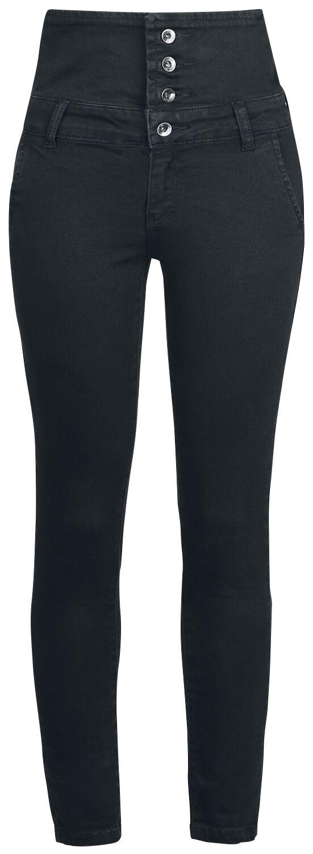 Forplay High Waist Denim Jeans Jeans schwarz 3-17-2372 black