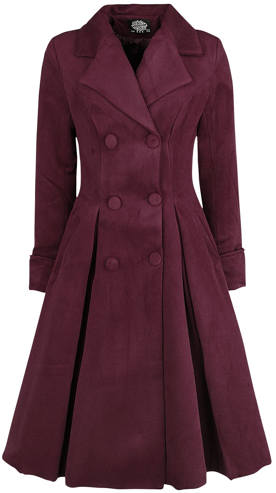 Jacken - H R London Eleanor Swing Coat Mantel burgund  - Onlineshop EMP