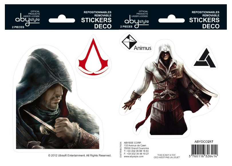 Image of Assassin's Creed Ezio und Altair Aufkleber-Set multicolor